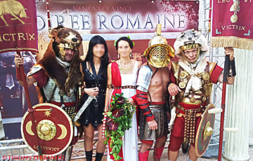 Soirée privée soirée romaine aix en provence
